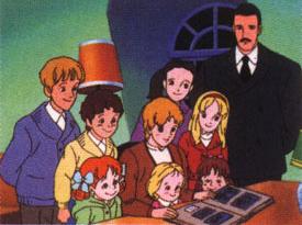 Trapp ikka monogatari - Enfants du Capitaine Trapp (les) - Générique de début japonais