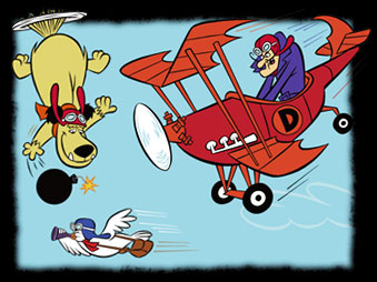 Dastardly and Muttley in Their Flying Machines - Satanas et Diabolo - Générique de début français