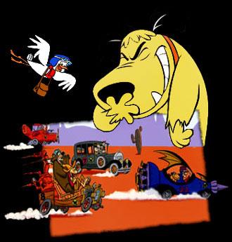 dessins anim s fous du volant les th me principal wacky races main theme. Black Bedroom Furniture Sets. Home Design Ideas