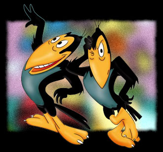 Heckle & Jeckle - Main title - Heckle et Jeckle - Générique