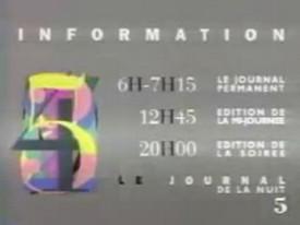 La Cinq - Ouverture des programmes 1991 - La Cinq - Ouverture des programmes 1991